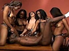 Ebony Girls Gangbang Guy With Their Strap On&039;s