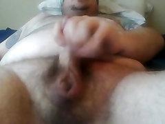 Fat chub bear Jack off and cum