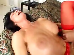 Mature Stockings Big Tits Big But Dildo and Anal