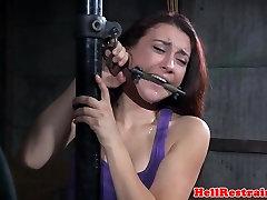 Masturbating bdsm submissive flogged hard