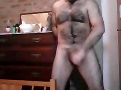 Sexy latino bear wanking