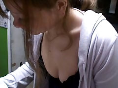 Down blouse video of a big breasted Asian cutie