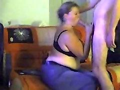 My BBW wife sucks my dick dry