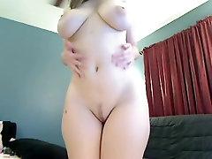 Rocking my big tits in webcam