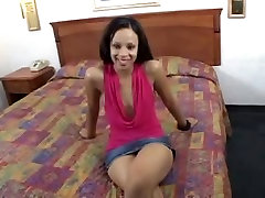 Sexy ebony bitch is fucked after the casting couch