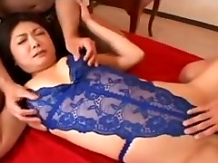 Charming Japanese mother Id like to fuck hawt love tunnel creampied