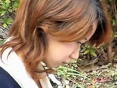 Horny voyeur filming hot Japanese womens cleavage
