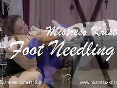 Mistress Kristn - Needles for her Feet - BDSM Foot Needling