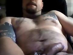 Big chested bear wanking
