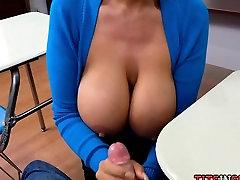 A Hot Teacher Fantasy with Big Tit MILF