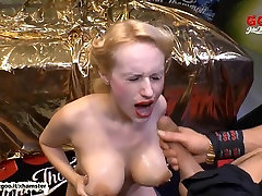 Angel Wicky big Natural Tits cum covered - German Goo Girls