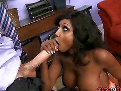 Big Black MILF Tits at School