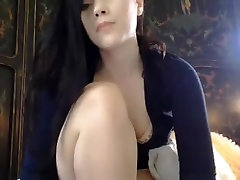 sexy brunette playing with cubby pussy lips and ass butt