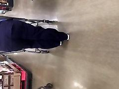 Big booty redbone milf in dark blue scrubs