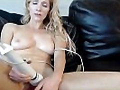 Stay At Home Mom Cums infront of Cam on Couch