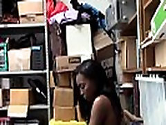 Teen ebony shoplifter ram