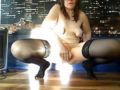 Russian mature slave Alexandra - amateur dildo show