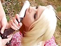 Les strapon squirts milk