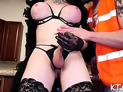 Fucking tranny likes to feel schlong in a-hole after sucking