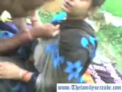 Indian stepson takes his mom outside to milk her tits---www.thefamilysextube.com
