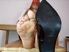 Shoe Fetish Sexy Feet Painted Toes