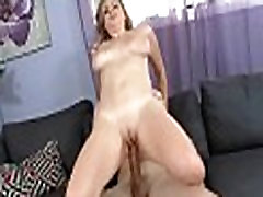 Lady with large boobs acquires nailed