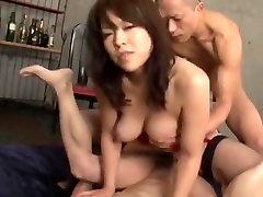 Exotic Japanese chick Reiko Nakamori in Amazing Threesomes, Big Tits JAV movie