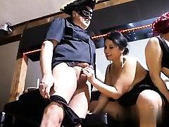 Busty amateur girlfriend group sex with facials
