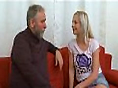 Cute juvenile gal fucked by old chap