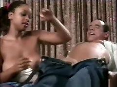 Incredible pornstar in crazy brunette, black and ebony porn video