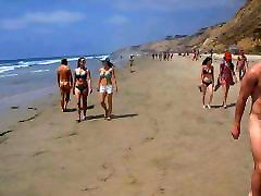 Blacks Beach CFNM - 2 Clothed Girls 26 Naked Men