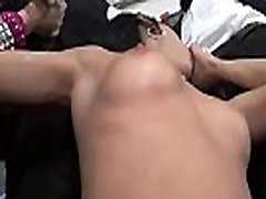 Interracial hardcore sex gangbang party with ten black dudes and sexy slut 23