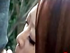 Outdoors Japanese Asian Schoolgirl Deepthroat Blowjob
