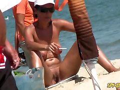 Random NUDIST Amateur Beach Voyeur Beach Spy Video