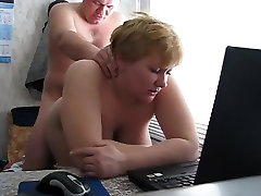 Dad fuck Russian mature mom with big boobs