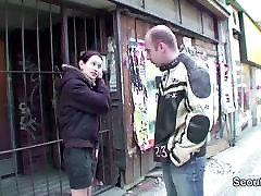 Petite Skinny Teen Fuck Stranger for Money to pay the rent