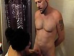 Cfnm asian babe tugs cock