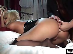 Blonde Gets Gagballed While He Fucks Her