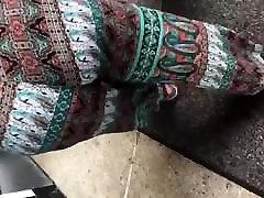 Big booty bbw in pattern pants