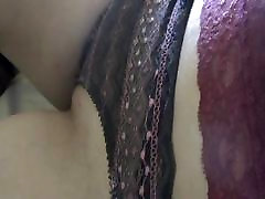 frontal transparent brown and pink panties for a milf