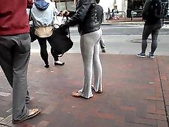 BootyCruise: Downtown Bus Stop: Fine Asian Ass