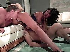 Horny pornstar Anna Malle in amazing vintage, blowjob porn clip