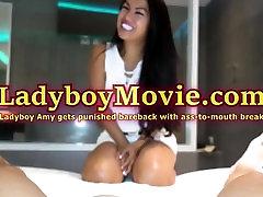 Ladyboy Amy Punished Bareback