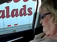 BBW Nude Flashing and Masturbating in Car