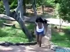 Midget fucks huge natural tits chubby ebony