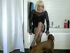 Horny homemade shemale clip with Stockings, Mature scenes