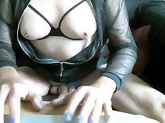 Amazing homemade shemale video with Webcam, Masturbation scenes