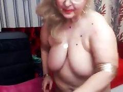 BBW Grandma open vagina