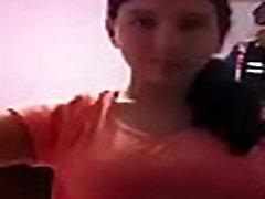 Desi indian school girl neha showing big boobs in red bra whatsapp leaked video