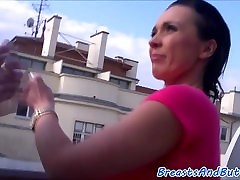 Bigbooty milf sucks cock and gets banged